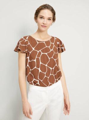 Blusa in popeline stampato