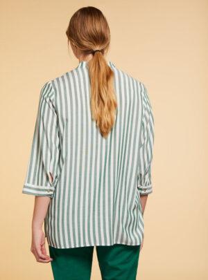 Camicia in viscosa a righe