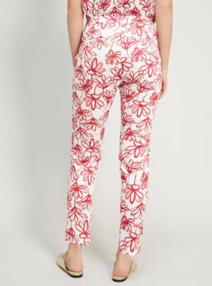 Pantaloni slim in raso di cotone
