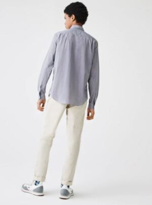 Camicia da uomo in popeline di cotone a quadri regular fit