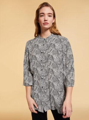 Camicia in viscosa e cupro