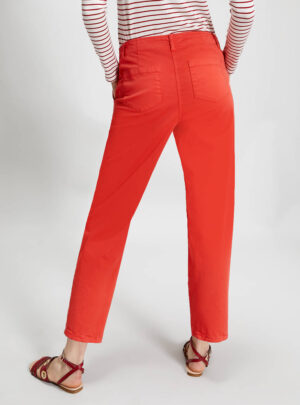 Pantaloni relaxed fit in cotone