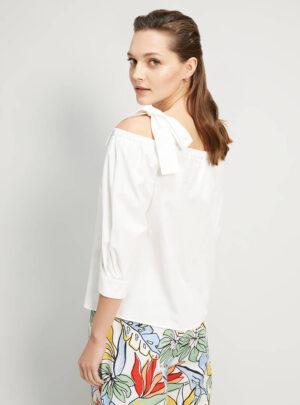 Blusa in popeline di cotone