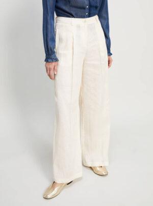 Pantaloni in puro lino