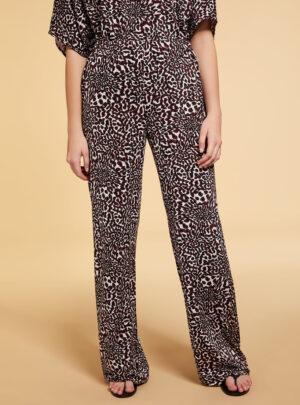 Pantaloni in twill stampato
