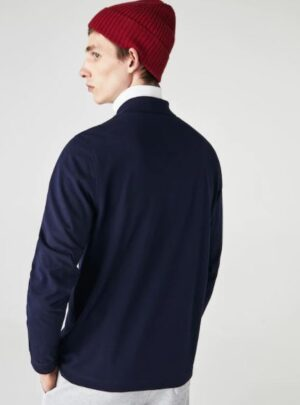 Polo Lacoste di taglio classico con maniche lunghe in petit piqué