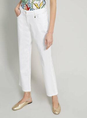 Pantaloni kick-flare in cotone