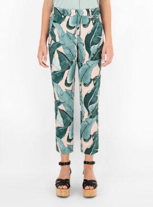 Pantaloni in faille di cotone