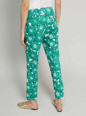 Pantaloni in popeline floreale