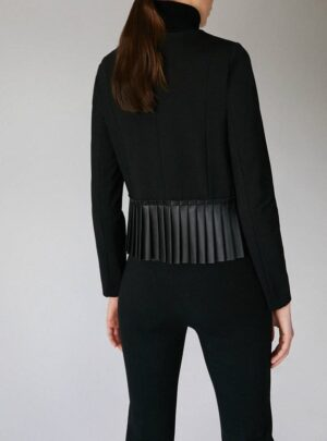 Giacca in jersey con plissé