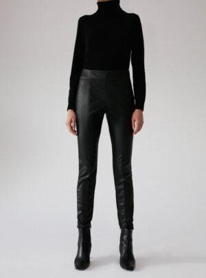 Skinny pants in jersey spalmato