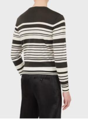 Maglione in lana vergine rasata a righe
