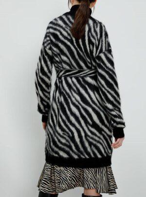Cardigan jacquard zebrato
